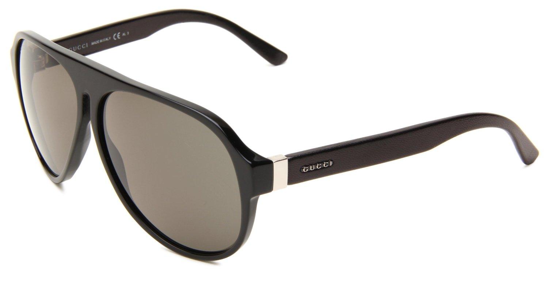 Gucci Leather Frame Glasses : Gucci Gucci Mens Gucci S Shield Sunglasses in Black (black ...