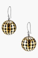 John Hardy Dot Gold Silver Ball Earrings - Lyst