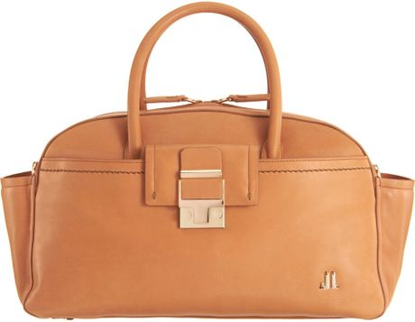 Lanvin Small Bowling Bag in Brown (gold) - Lyst