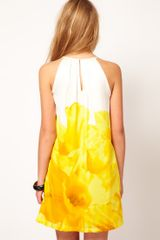 Mango Mango Dip Dye Dress in Yellow - Lyst