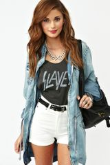 Nasty Gal Highway Denim Shorts White - Lyst