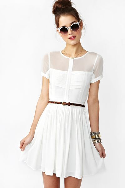 Nasty Gal Light Wave Dress in White - Lyst