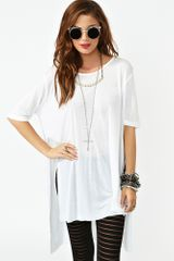 Nasty Gal Sliced Tee - Lyst