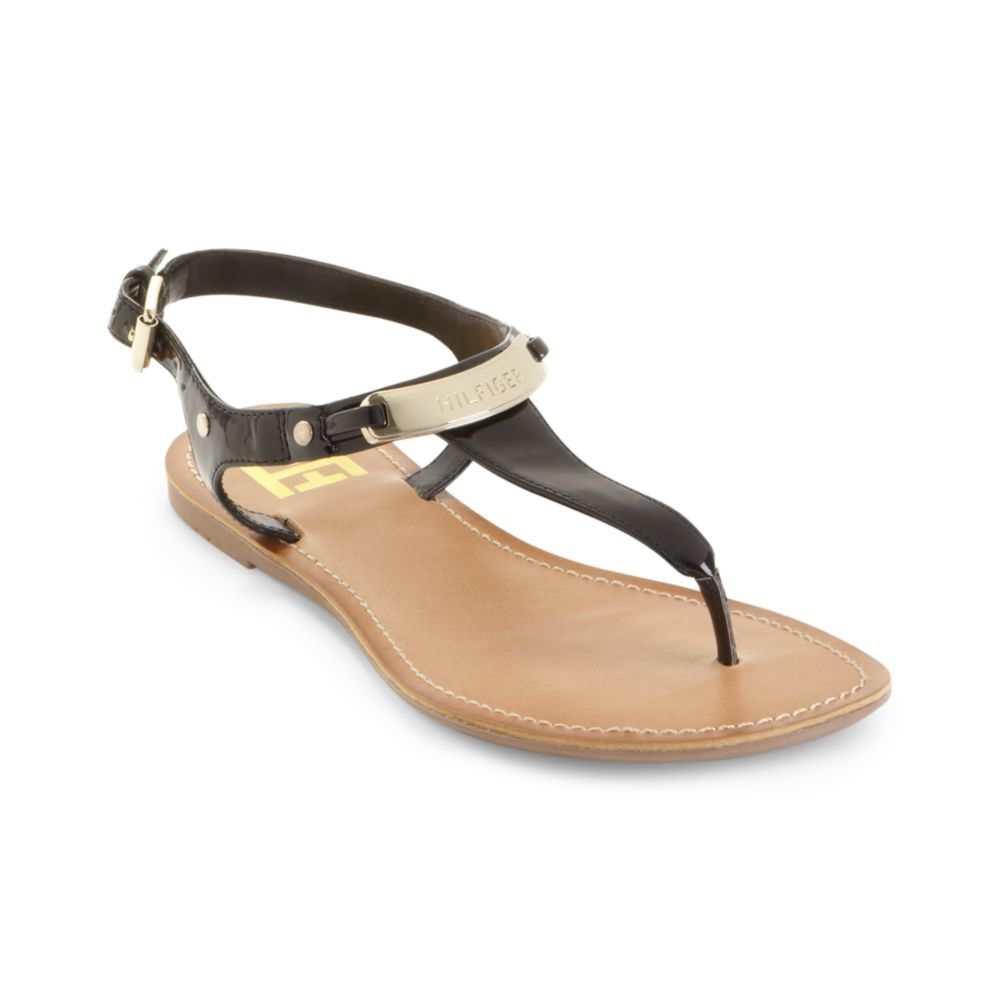 Lyst Tommy Hilfiger Loraine Thong Sandals In Black