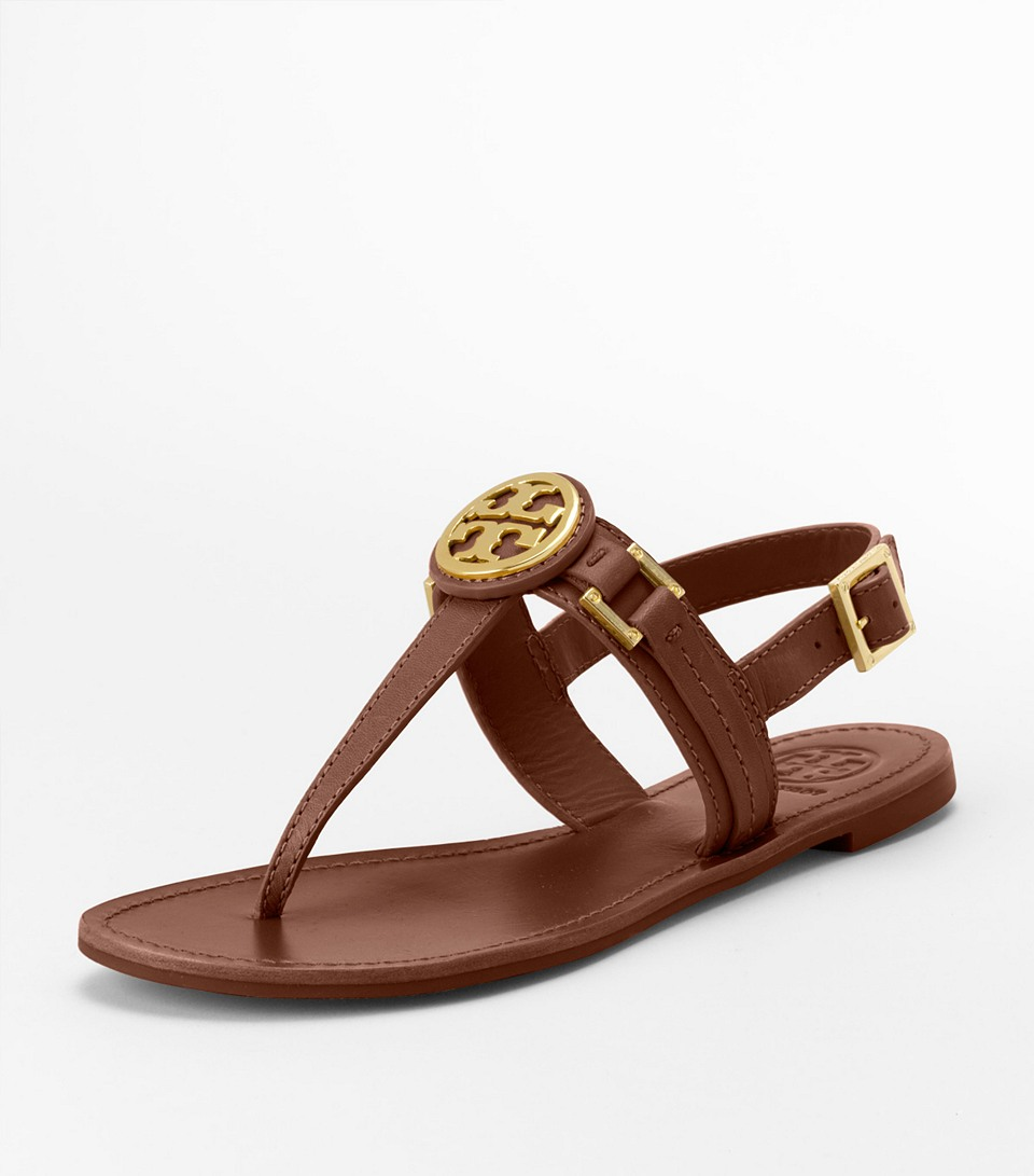 5ada6c413ead2c Lyst - Tory Burch Cassia Sandal in Brown