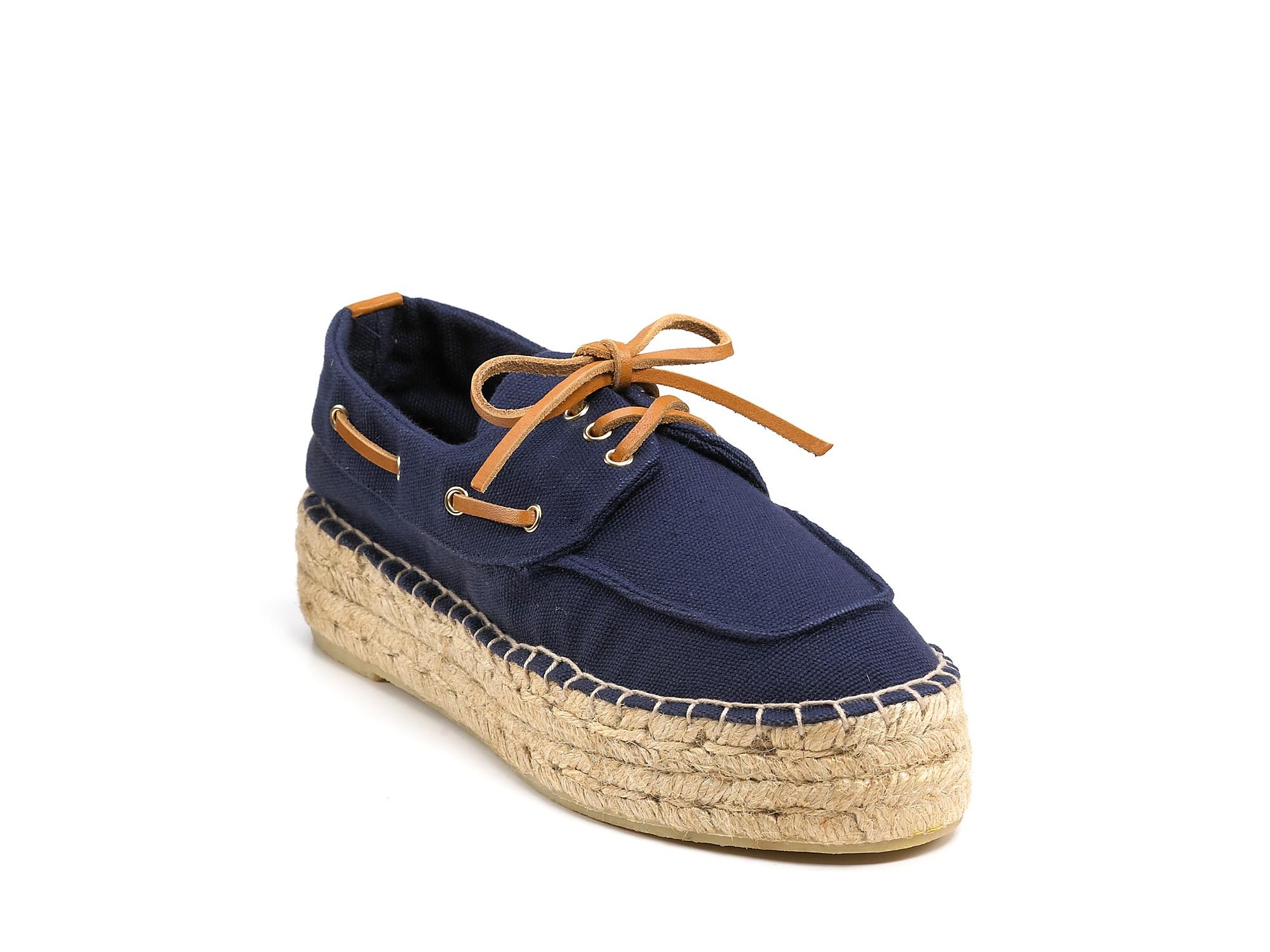 Tory Burch Espadrilles Blanton Boat Shoes In Blue Lyst