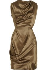 Vivienne Westwood Anglomania Fond Silk Draped Dress - Lyst