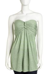 BCBGMAXAZRIA Strapless Striped Top  - Lyst