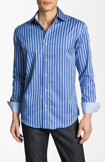 Bugatchi Uomo Shaped Fit Sport Shirt - Lyst