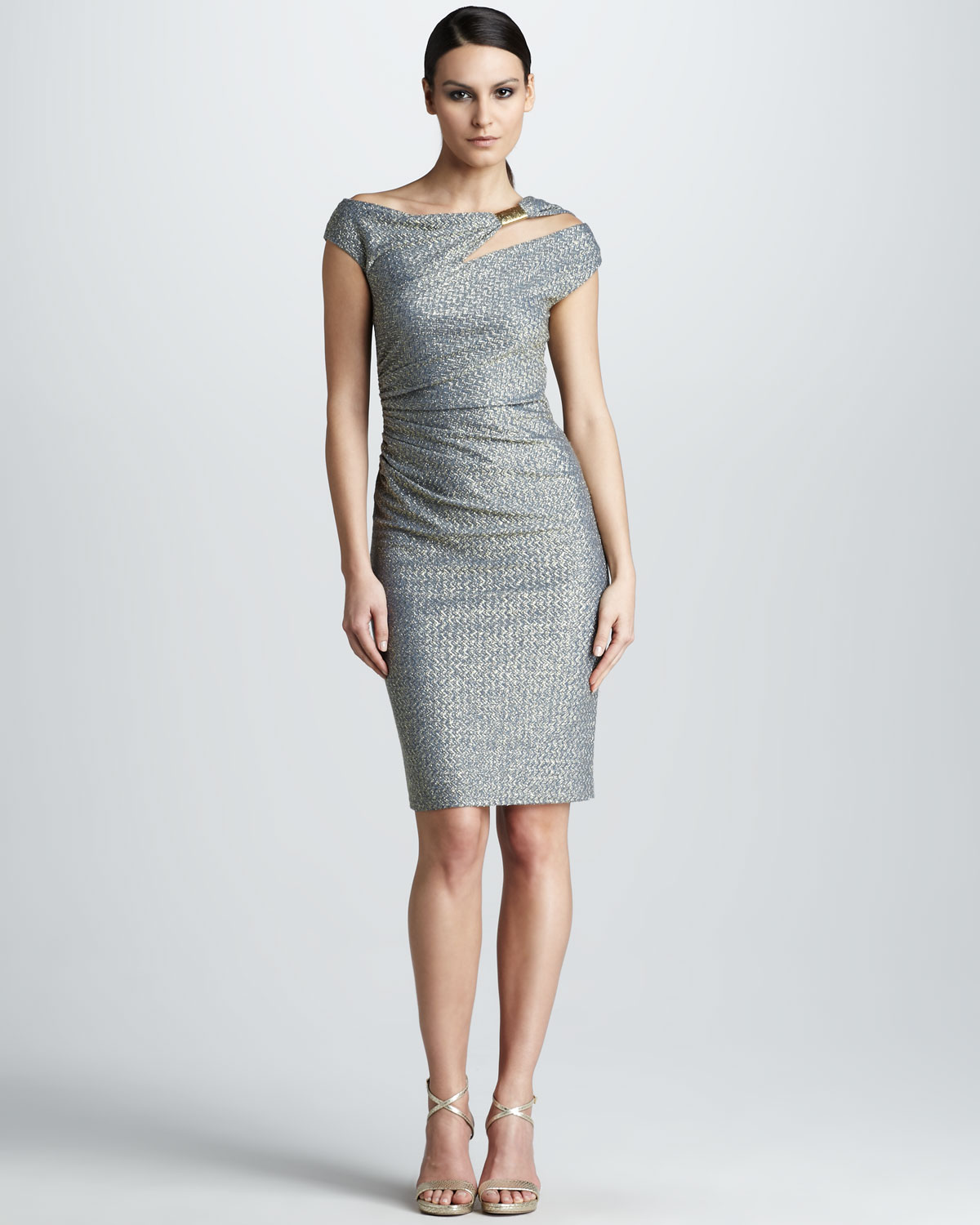 David meister Asymmetric Cocktail Dress in Blue  Lyst