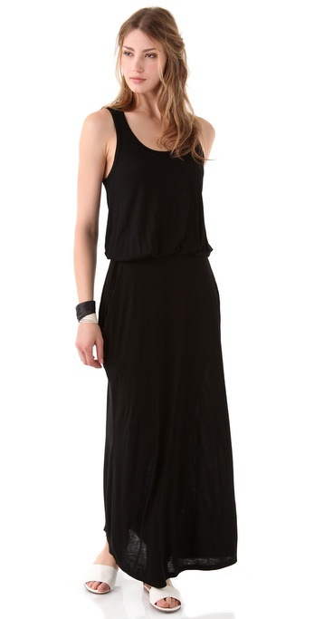 Black tank dress maxi
