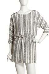 Elizabeth And James Striped Silk Shift Dress - Lyst