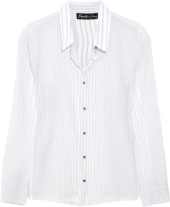 Elizabeth And James Amie Striped Cottongauze Shirt - Lyst