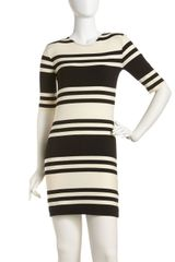 French Connection Jag Striped Knit Dress - Lyst