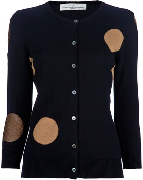 Golden Goose Deluxe Brand Polka Dot Cardigan in Blue - Lyst