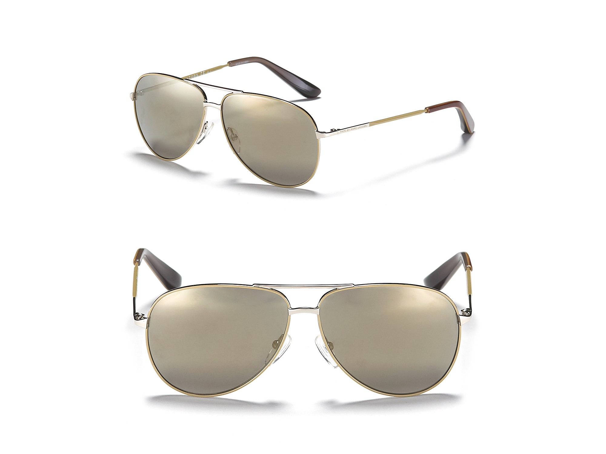 00147c248f Lyst - Marc By Marc Jacobs Small Metal Aviator Sunglasses with ...