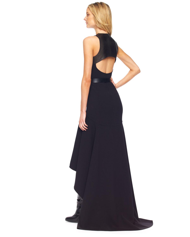 Lyst - Michael Kors Highlow Hemline Gown in Black