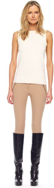 Michael Kors Stretch Gabardine Riding Pants in Beige (desert) - Lyst