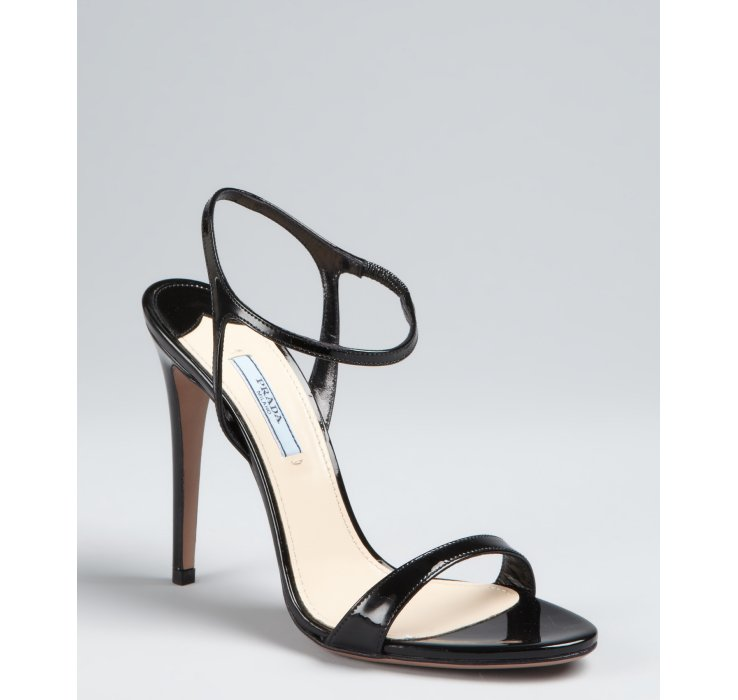 Prada Patent Ankle-Strap Sandals cheap price fake best prices online sale limited edition vEWJory