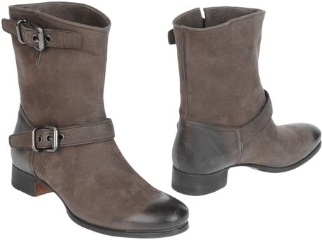 Prada Ankle Boots in Gray (lead) - Lyst