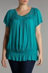 Samya Samya Detailed Top in Blue (jade) - Lyst