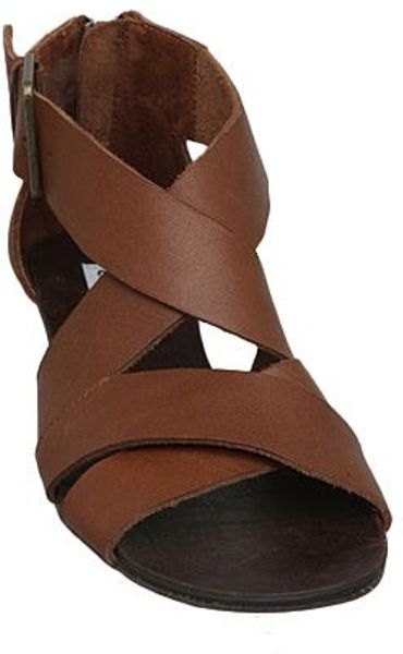 Wedge Sm Thick The Hunt On Brown Strap Sandals Low Steve Madden Karroll IWE9DH2