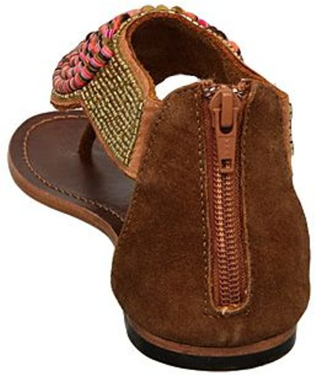 Steve Madden Phorroh Sm Flat Embellished Sandals In Brown