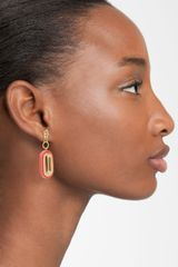 Tory Burch Heidi Drop Earrings in Pink (coral) - Lyst