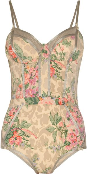 Zimmermann Devoted Floral-print Swimsuit - Lyst
