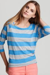 Allen Allen Striped Tee - Lyst