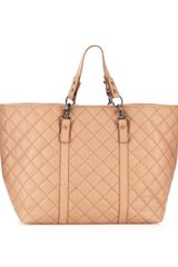 Bcbgmaxazria Ibex Quilted Leather Tote Nude in Beige (nude) - Lyst