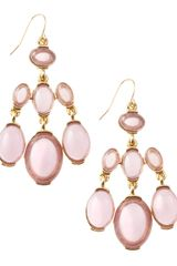Fragments Chandelier Stone Earrings Lilac - Lyst