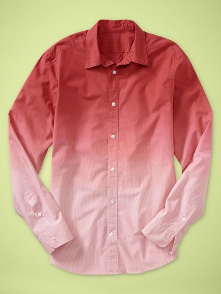 Gap Dipdye Striped Shirt in Red for Men (sedona) - Lyst