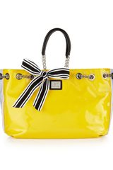 Gianfranco Ferré Striped Shoulder Bag Yellow - Lyst