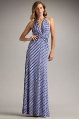 Issa Printed Silk Maxi Halter Dress - Lyst