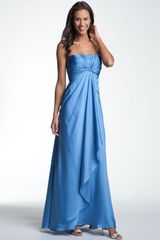 Ml Monique Lhuillier Bridesmaids Strapless Gown - Lyst
