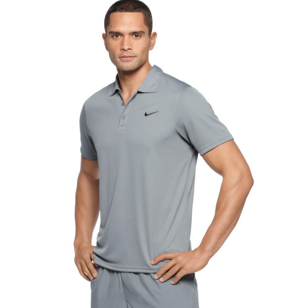 546dd8b5 Nike Lightweight Drifit Polo Shirt in Gray for Men - Lyst