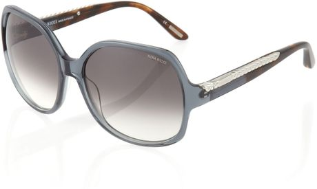 Nina Ricci Braided arm Ombre Sunglasses Smoked Gray in Brown (null) - Lyst