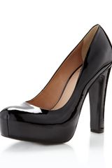 Pour La Victoire Irina Ii Patent Leather Platform Pump Black in Black - Lyst