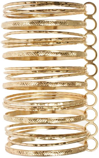 River Island River Island Gold Connected Bangles - Lyst