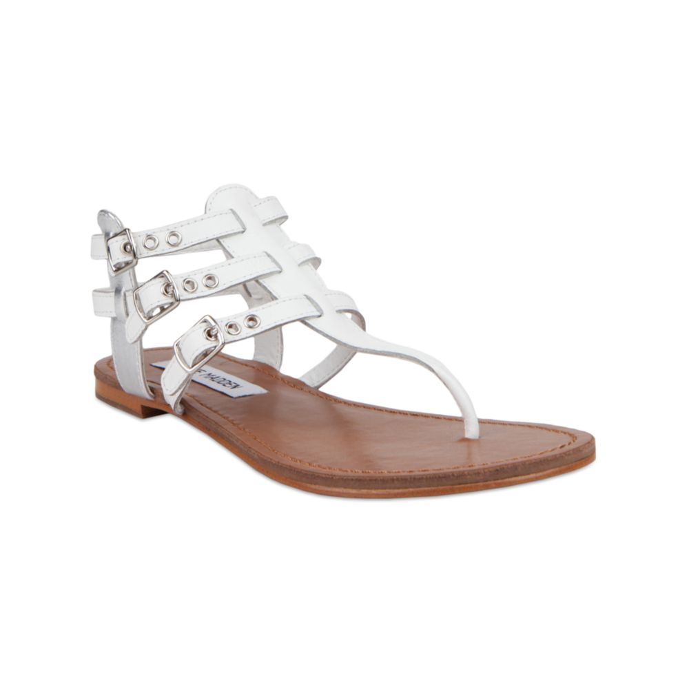 Lyst Steve Madden Saahti Flat Sandals In White