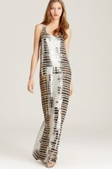 BCBGMAXAZRIA Maxi Dress Sequin - Lyst