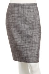 Tahari Straw Tweed Pencil Skirt - Lyst