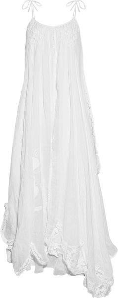 Emamó Poeme Crocheted Cottonblend Muslin Maxi Dress - Lyst