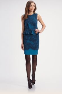 Emilio Pucci Lace Print Dress - Lyst