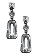 Givenchy Medium Hematite Tone Rectangular Crystal Drop Earrings - Lyst