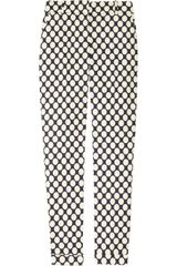 J.Crew Café Polkadot Stretch Cotton Capri Pants - Lyst