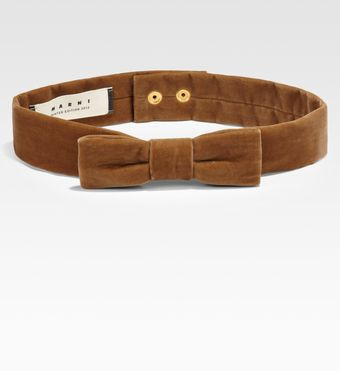 Marni Velour Bow Belt - Lyst