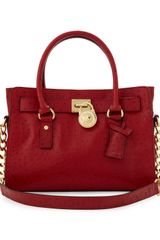 Michael by Michael Kors Hamilton Ew Satchel Red - Lyst