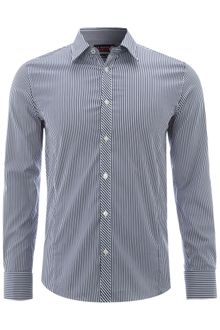 Ted Baker Long Sleeved Lux Satin Stripe Formal Shirt - Lyst